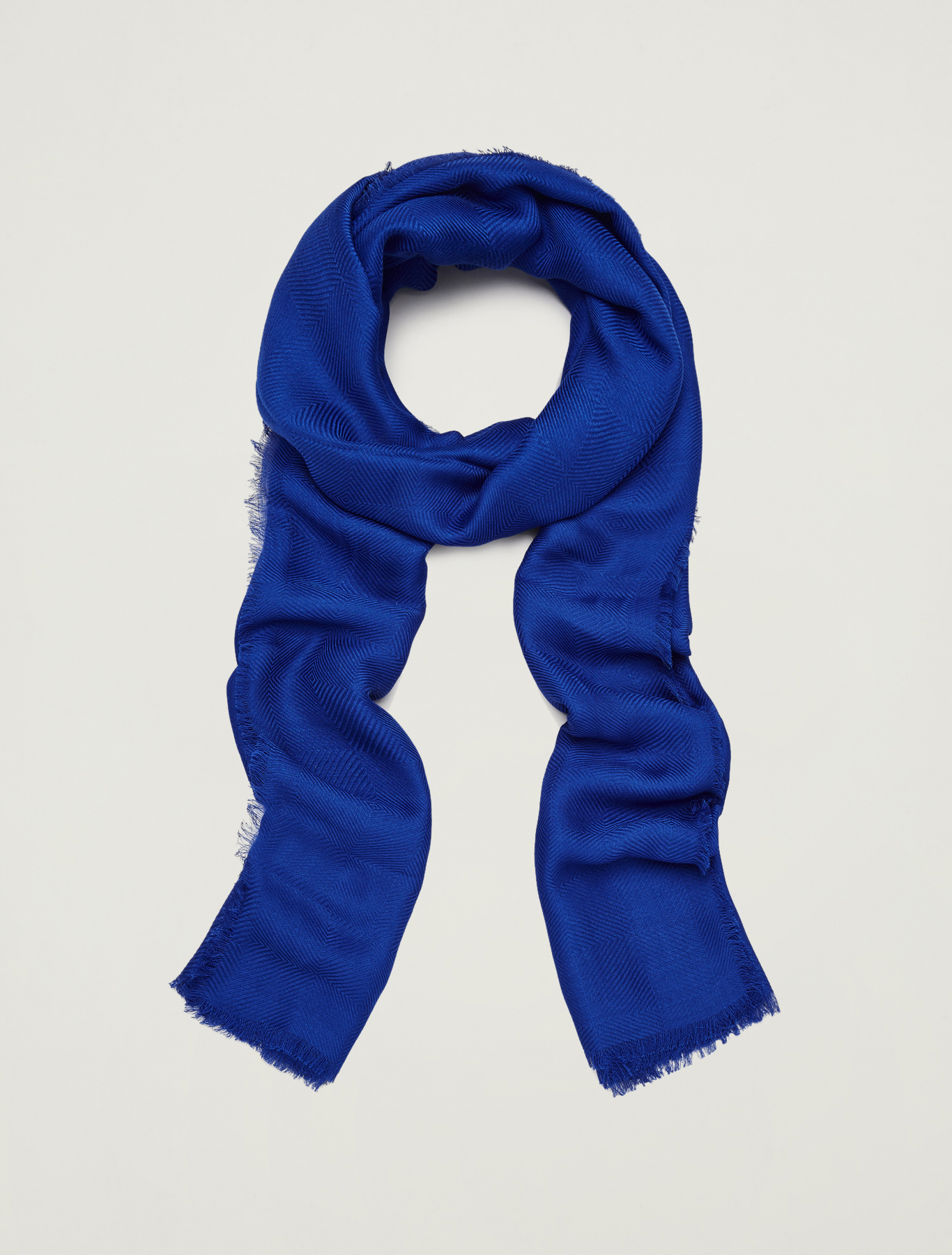 Geometric textured stole - cornflower blue - pennyblack