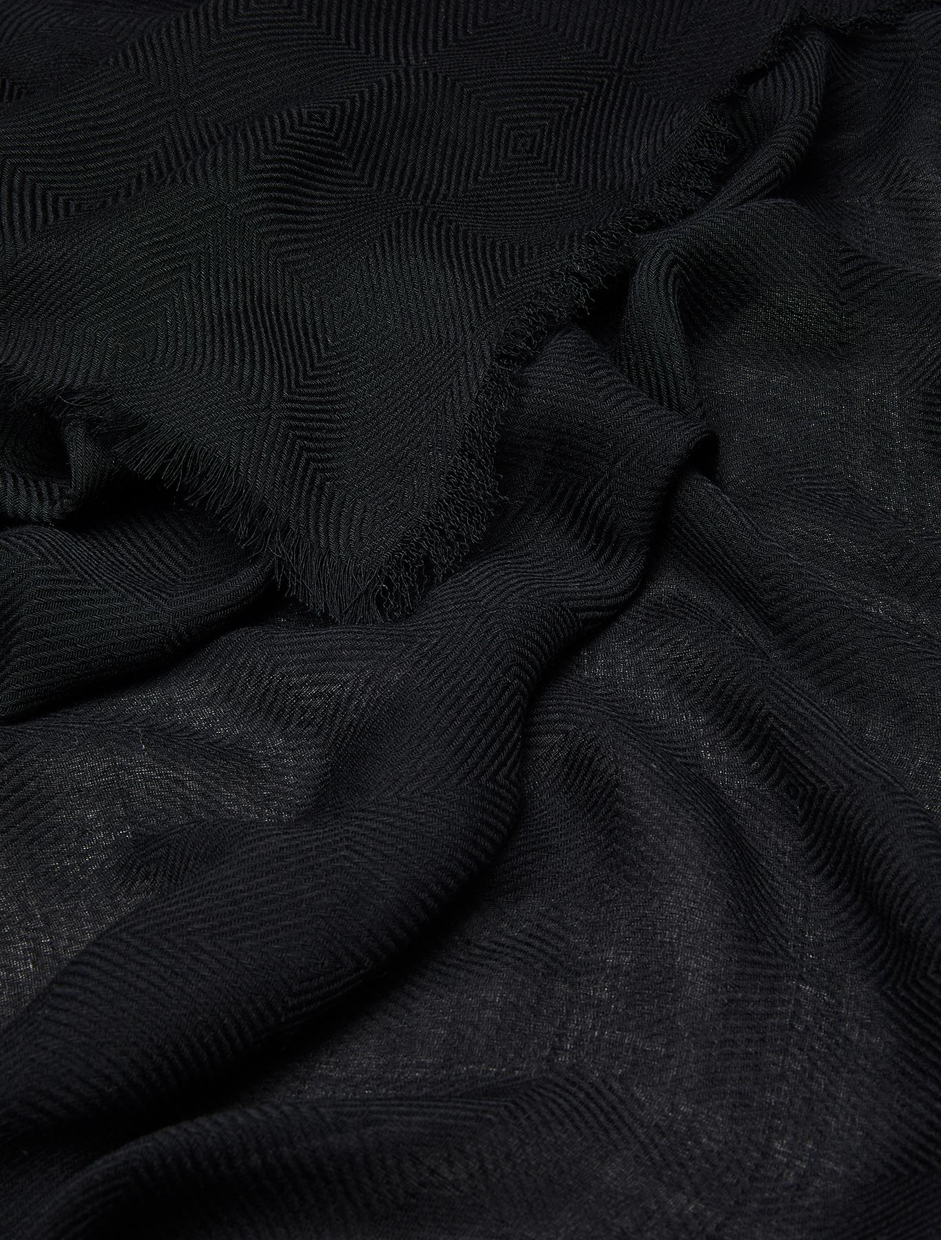 Geometric textured stole - black - pennyblack