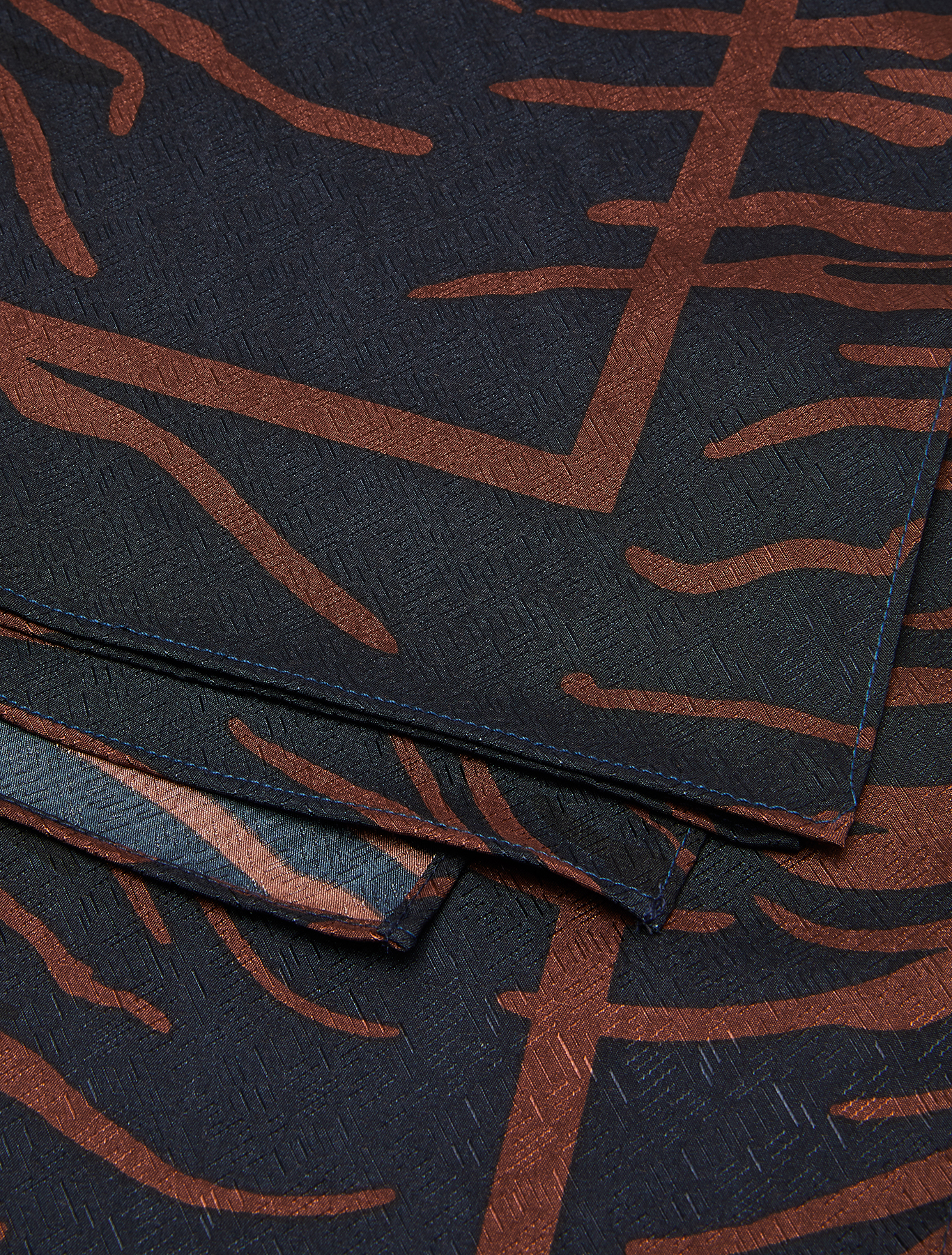 Printed jacquard stole - brown - pennyblack