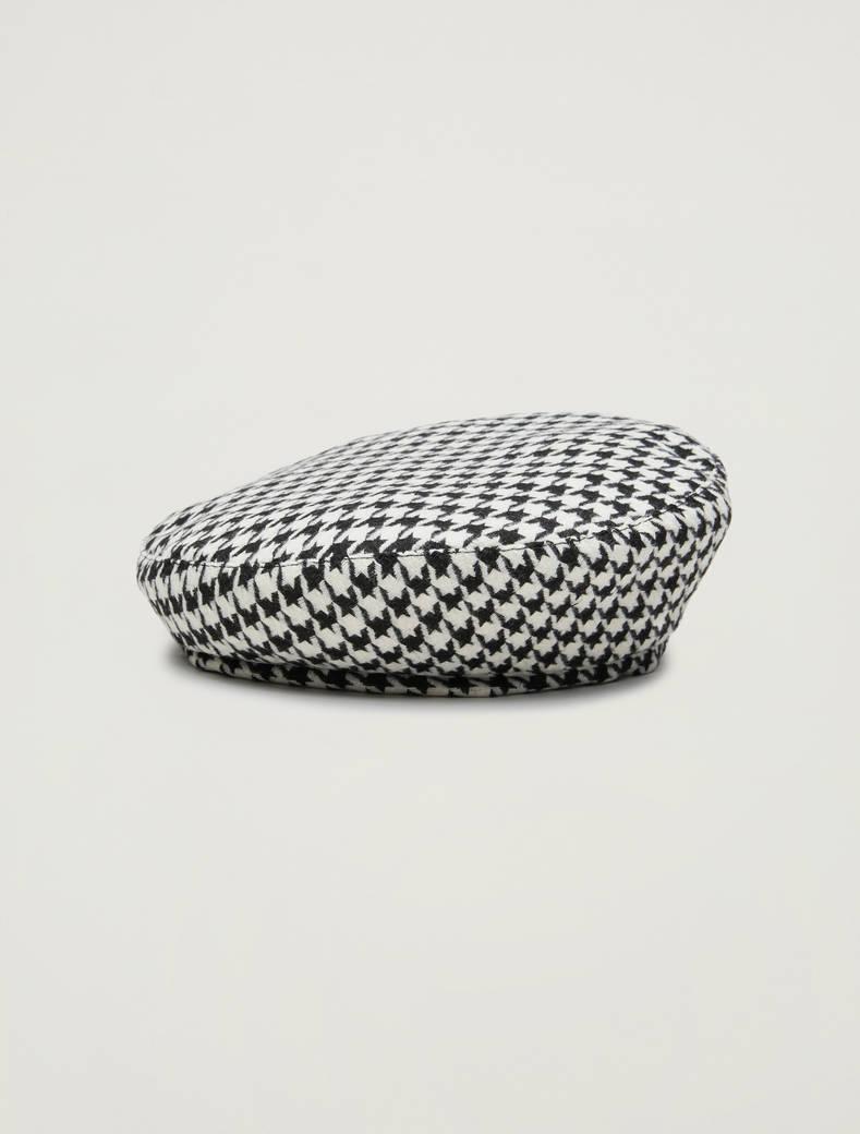 Houndstooth beret - ivory - pennyblack