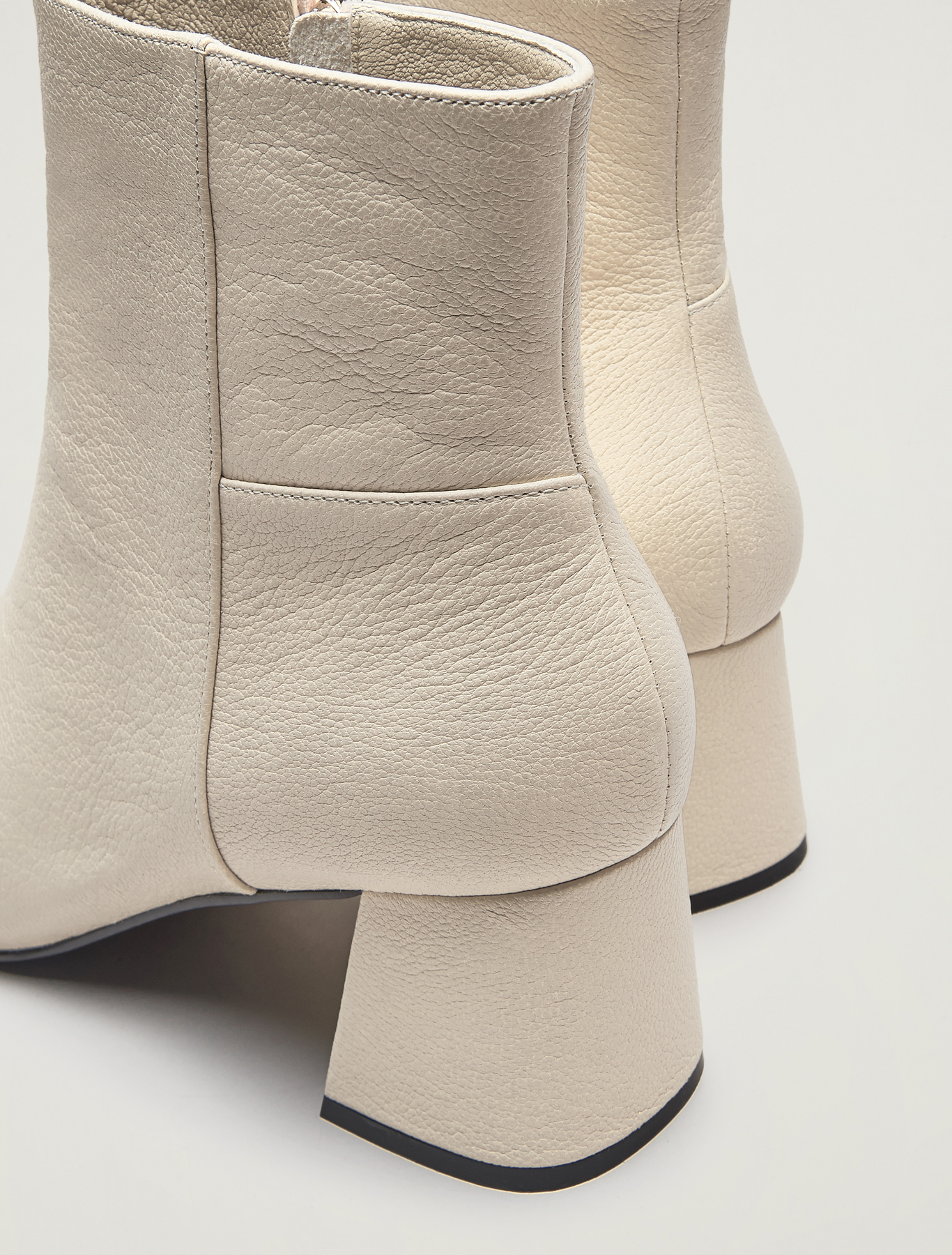 Nappa leather ankle boots - ivory - pennyblack