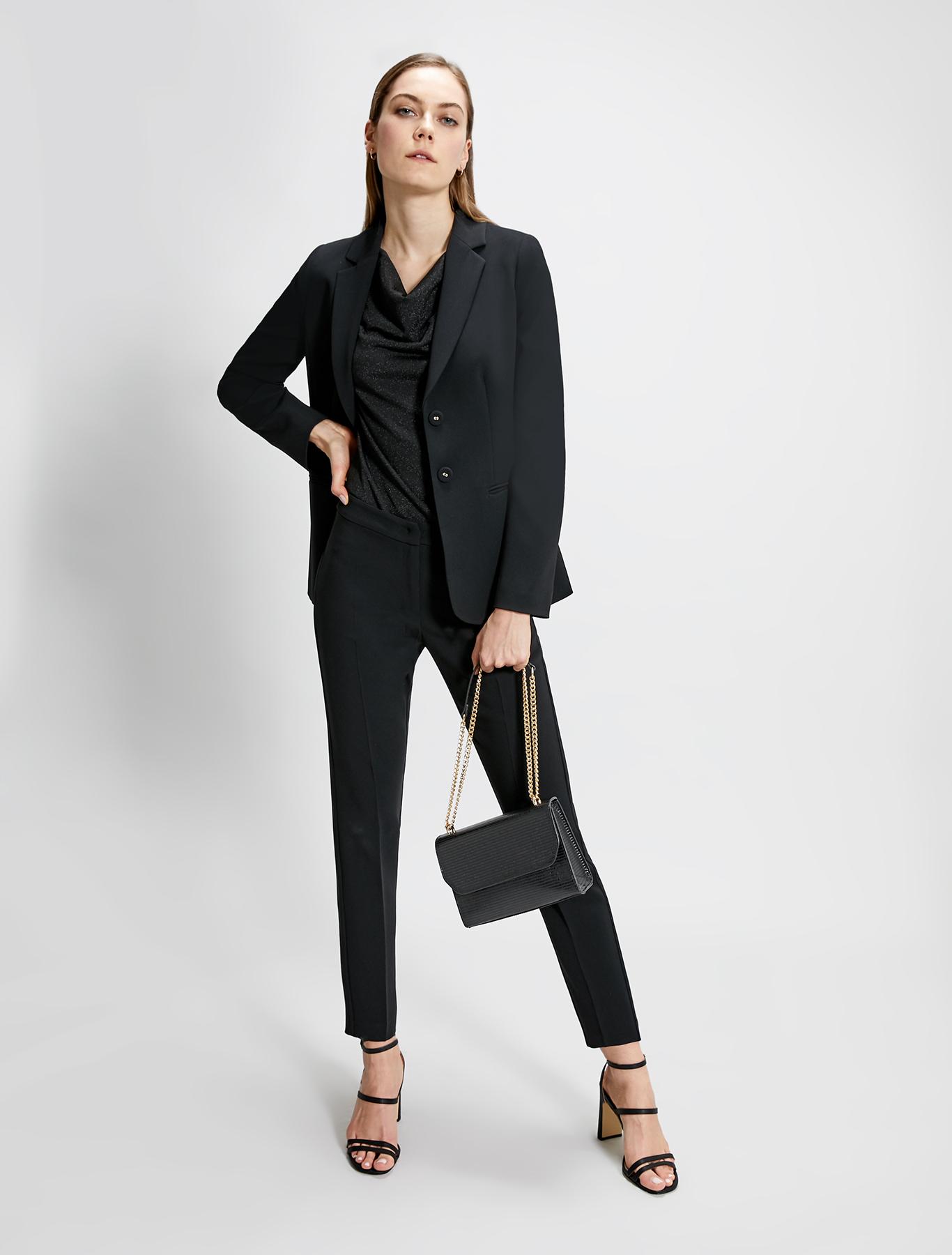 Two-button blazer - black - pennyblack
