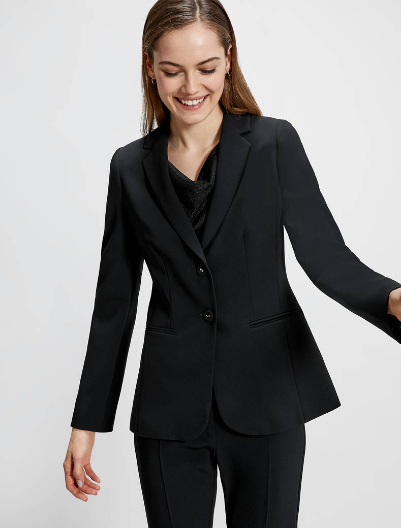 Two-button blazer - black - pennyblack