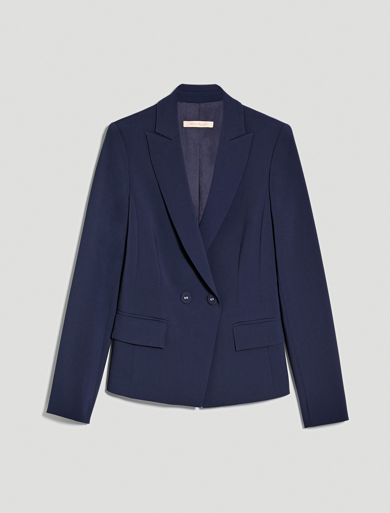 Slim two-button blazer - navy blue - pennyblack