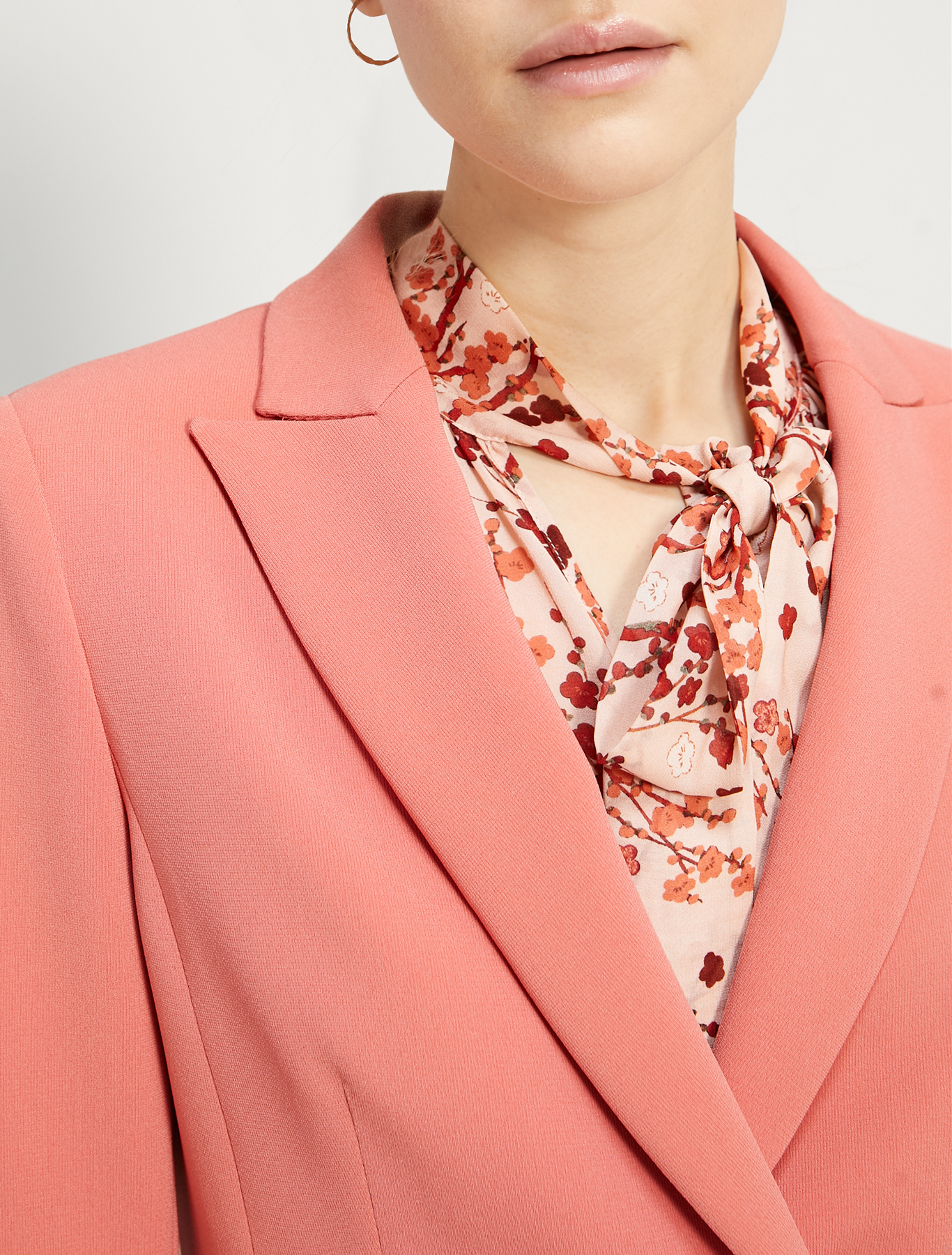 Slim two-button blazer - old rose - pennyblack