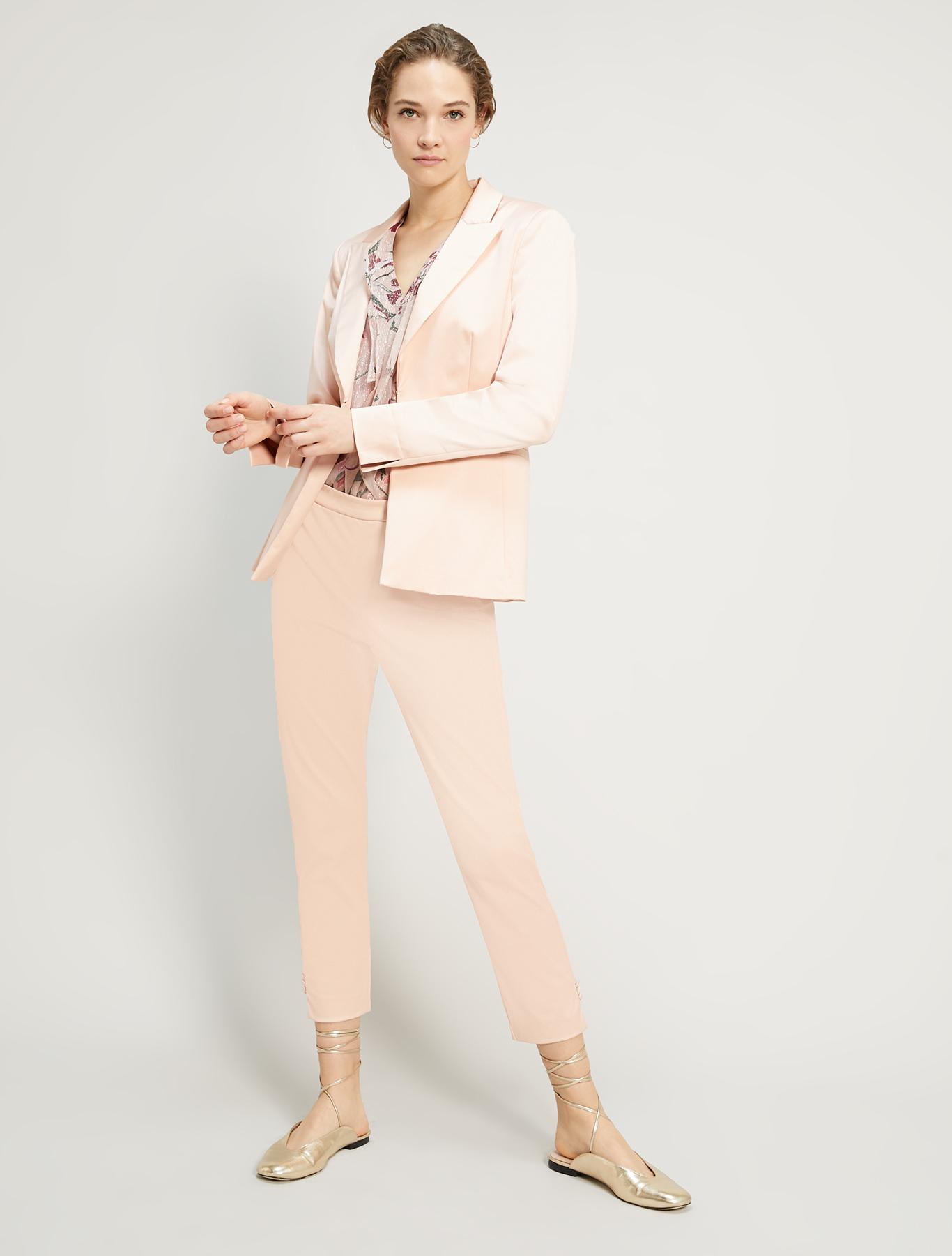 Slim satin blazer - pink - pennyblack