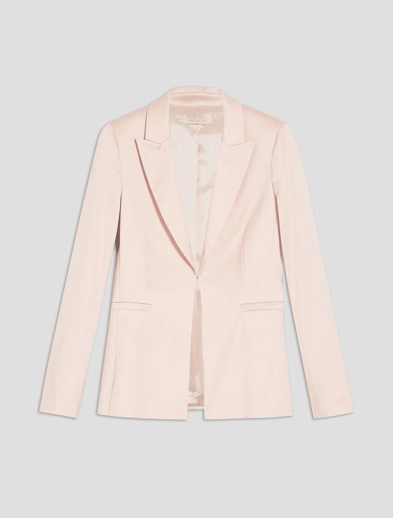 Blazer slim in raso - rosa - pennyblack