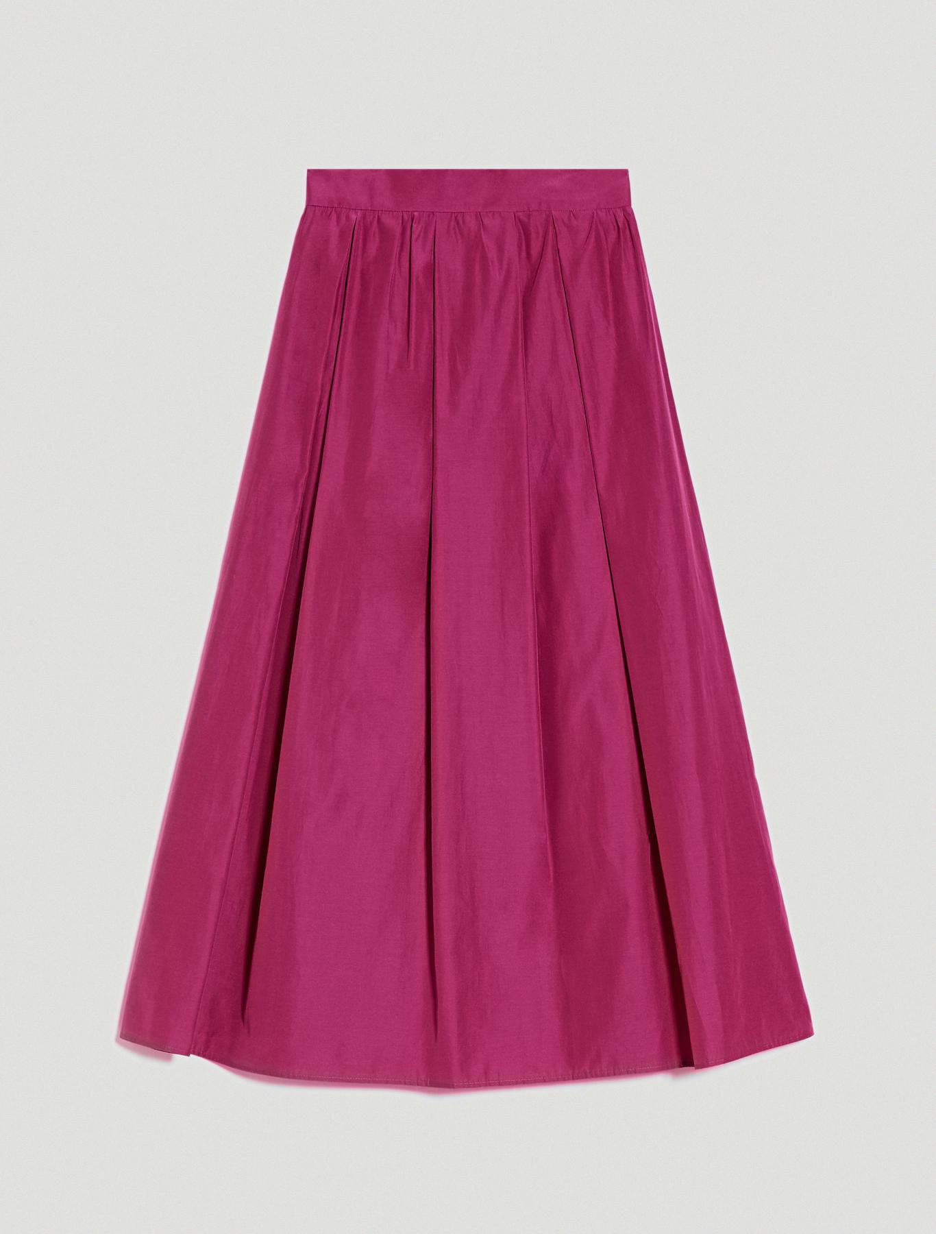 Pleated taffeta skirt - fuchsia - pennyblack