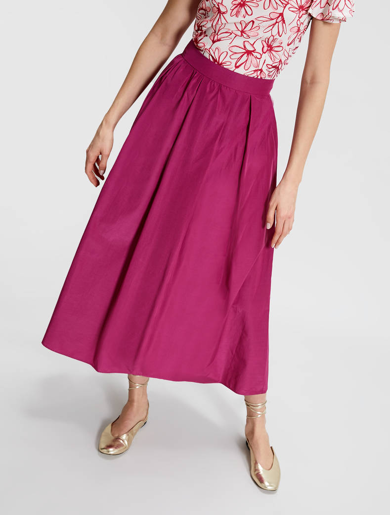 Pleated taffeta skirt - fuchsia - pennyblack