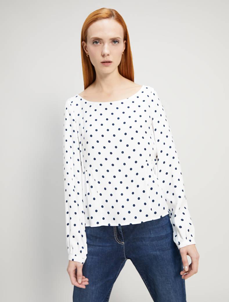 Polka dot sablé blouse - pxt - pennyblack