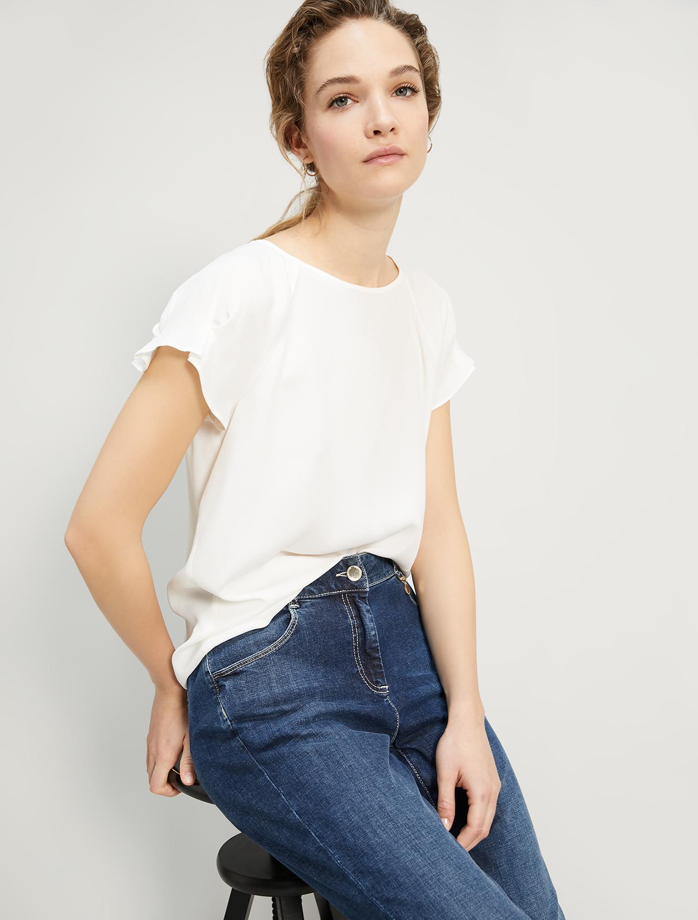 Crêpe de Chine blouse - ivory - pennyblack
