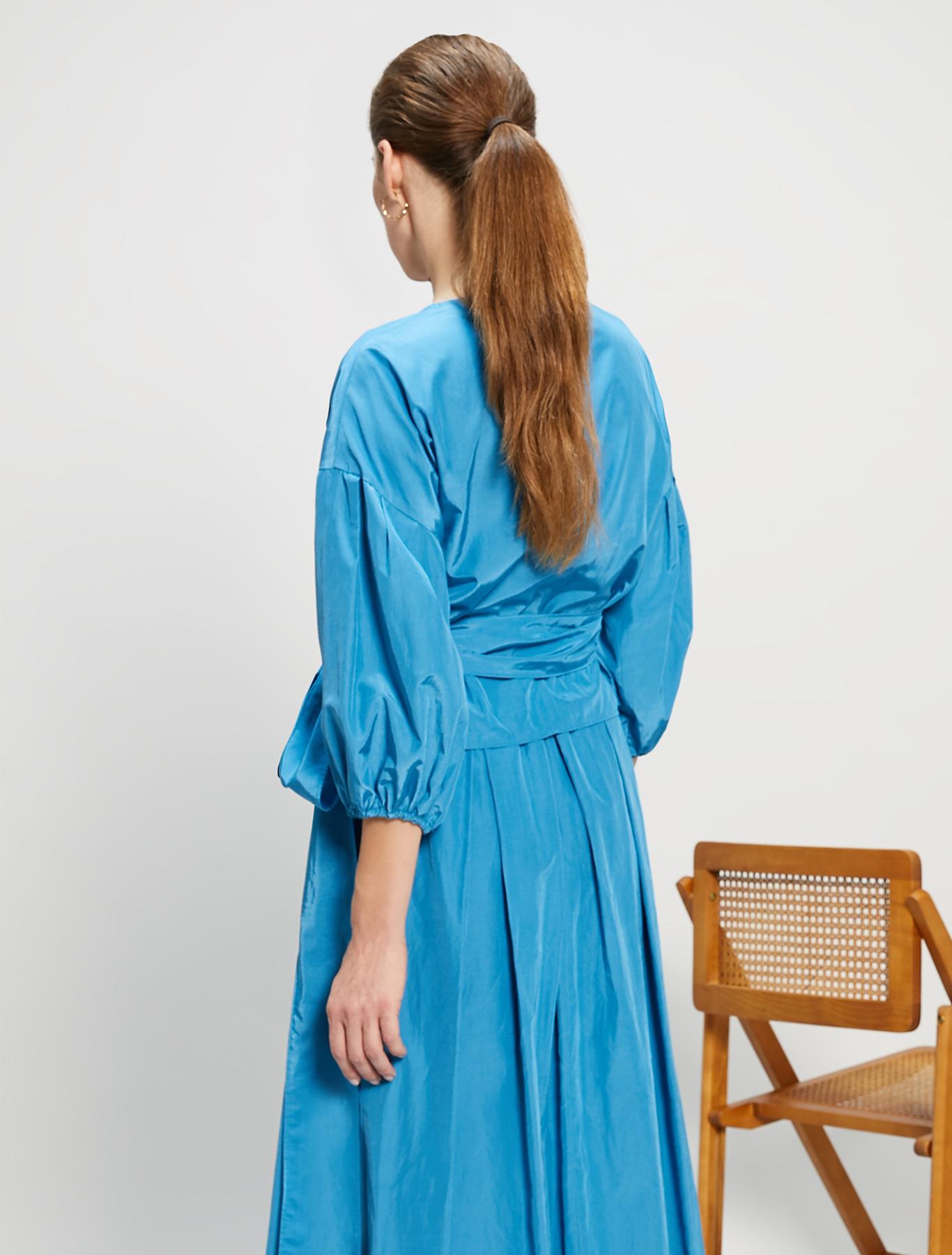 Crossover taffeta shirt - turquoise - pennyblack