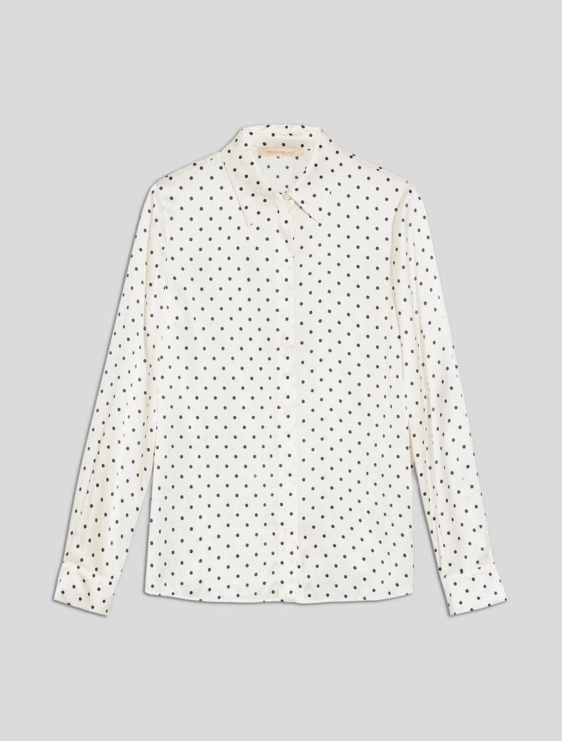Camicia in raso a pois - fantasia bianco - pennyblack