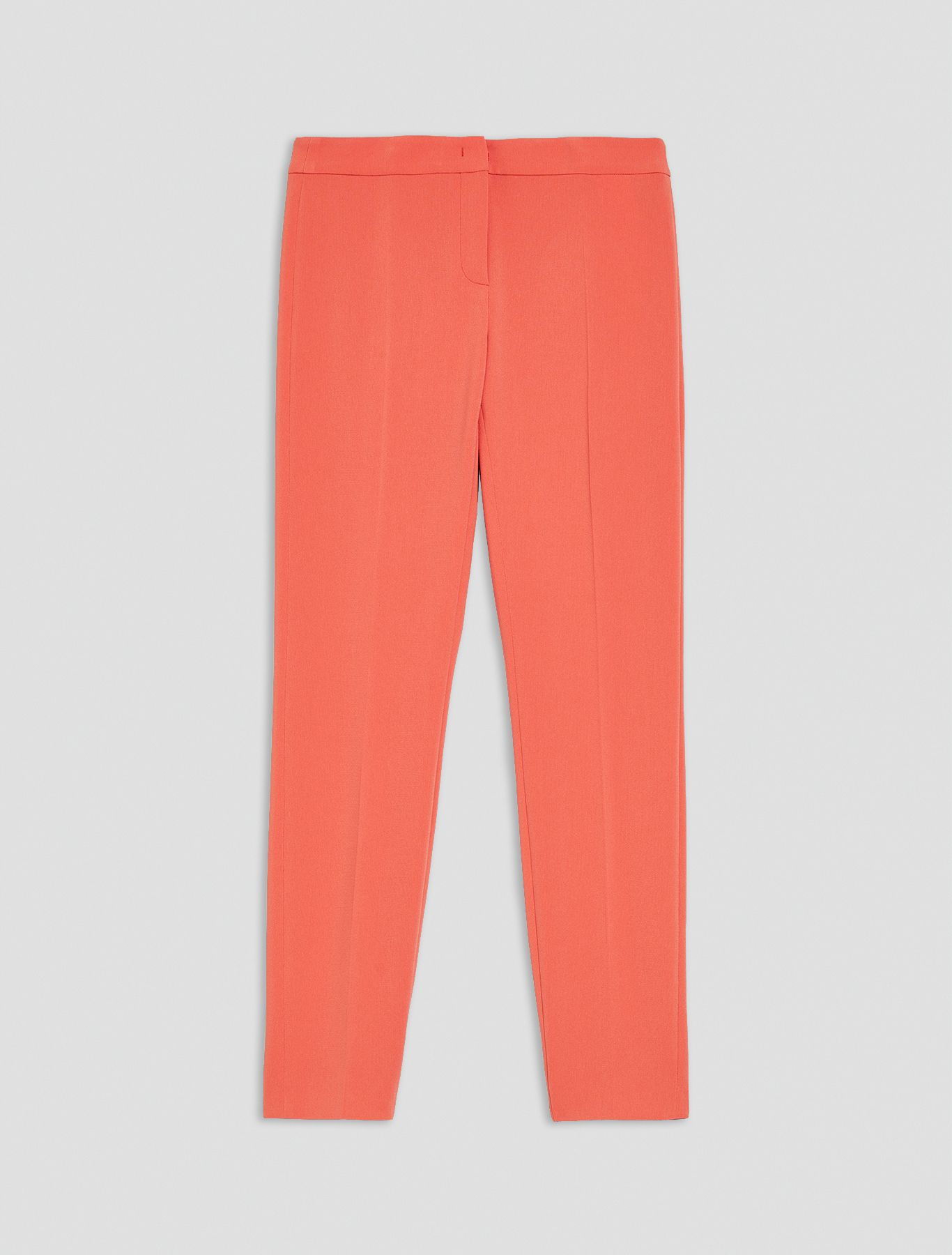 Slim-fit trousers in flowing fabric - old rose - pennyblack