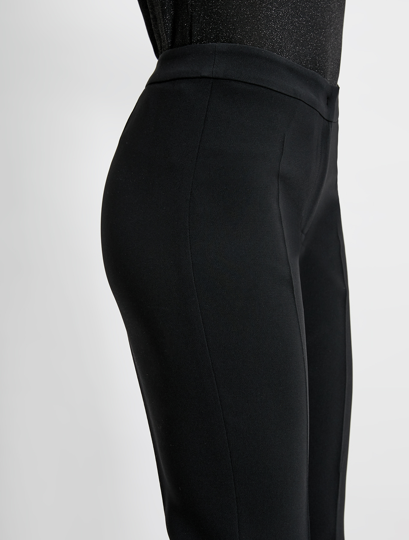 Slim-fit trousers in flowing fabric - black - pennyblack