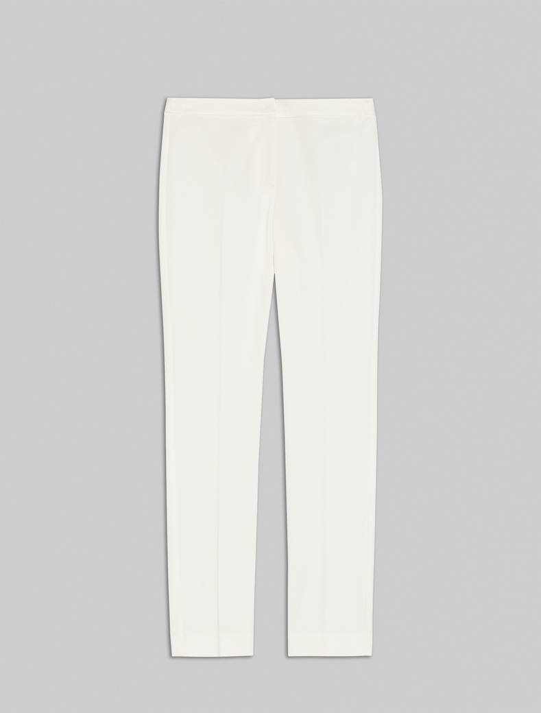 Slim faille trousers - ivory - pennyblack