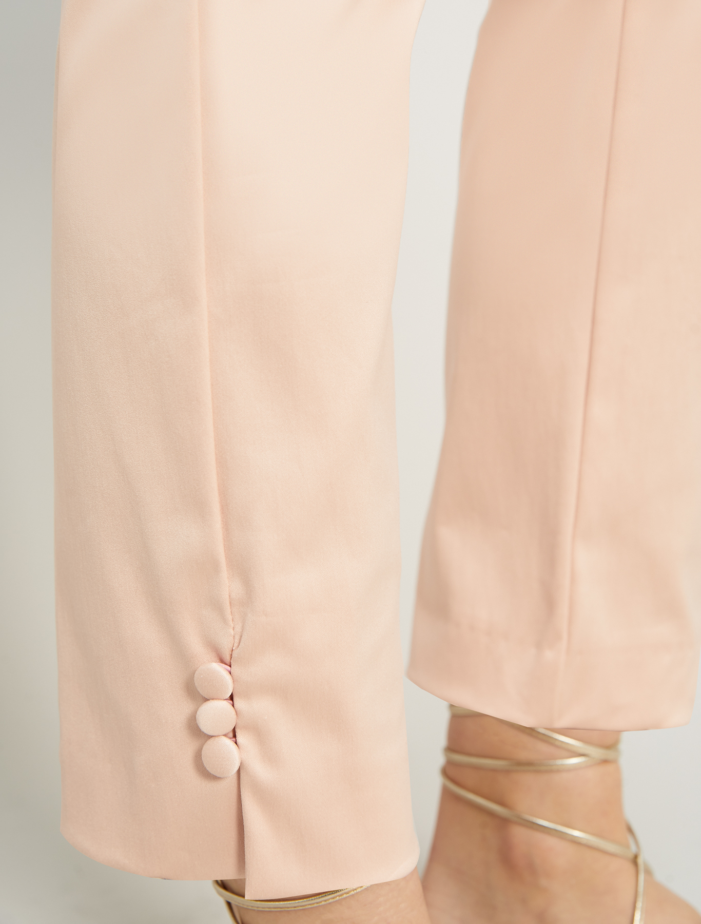 Slim satin trousers - pink - pennyblack