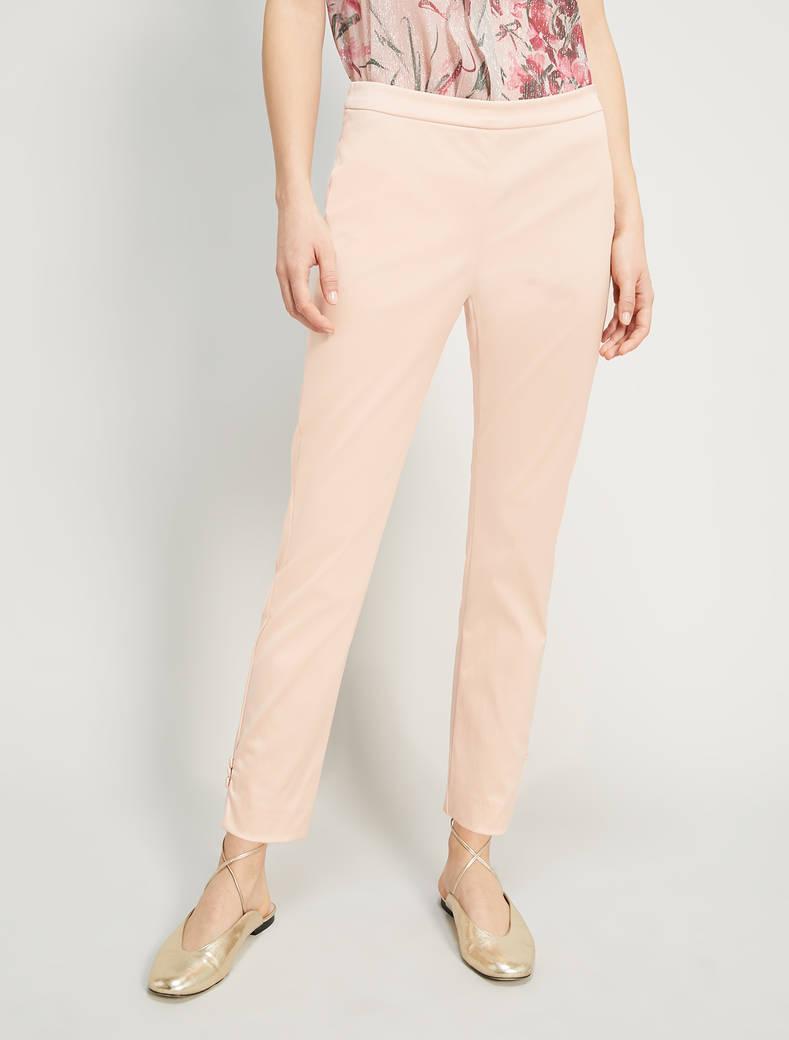 Pantaloni slim in raso - rosa - pennyblack