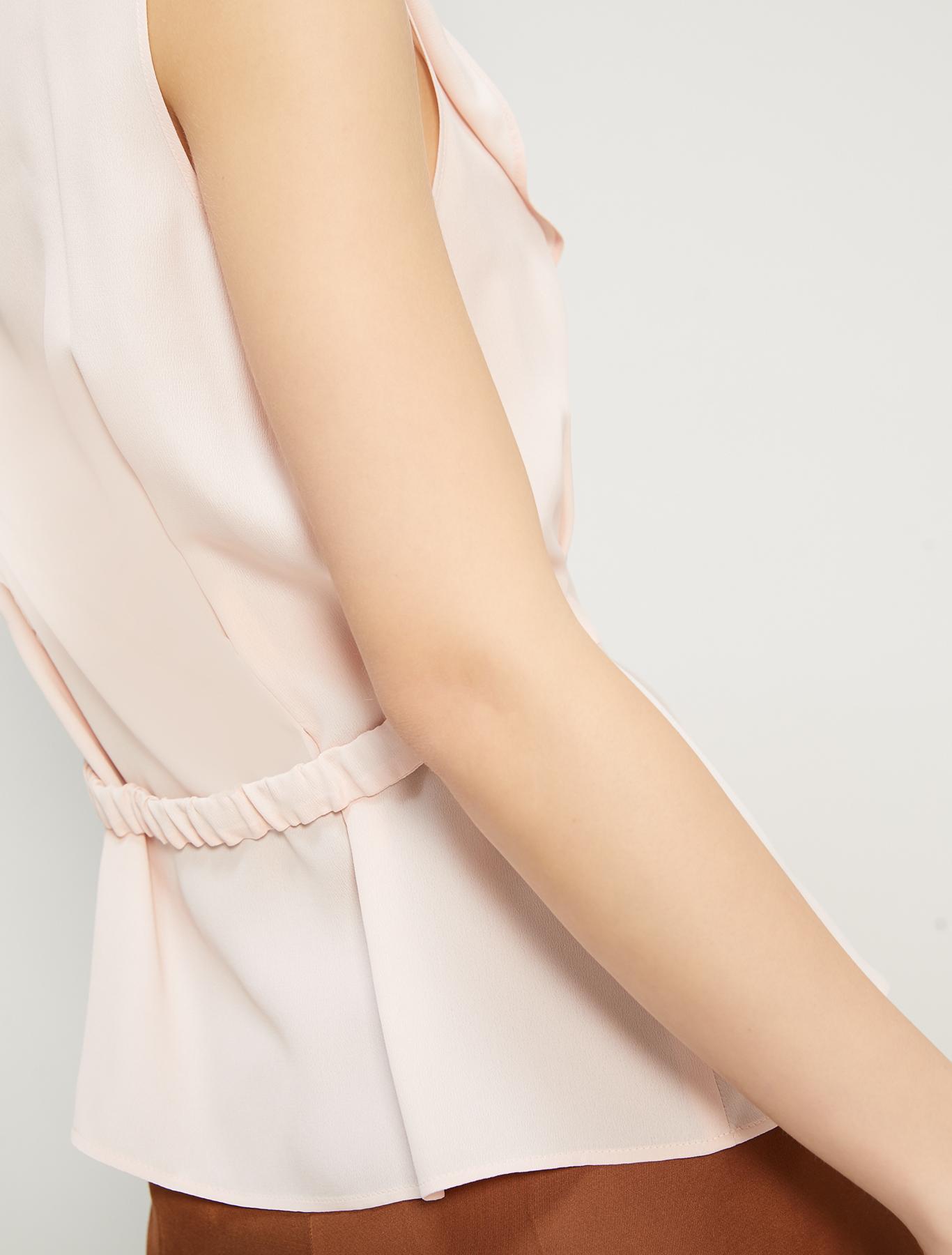 Crêpe de Chine top - pink - pennyblack