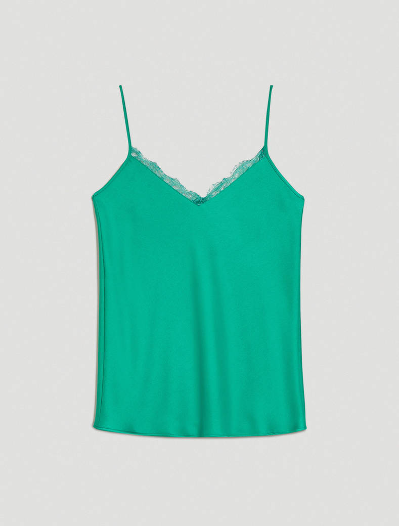 Envers satin top - emerald green - pennyblack