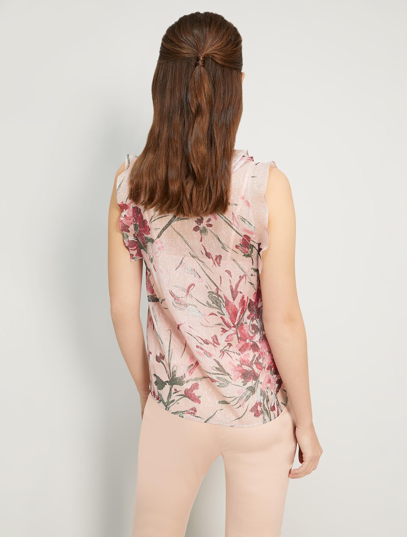 Lamé silk top - rose pink pattern - pennyblack