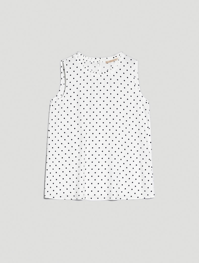 Polka dot sablé top - beige pattern - pennyblack