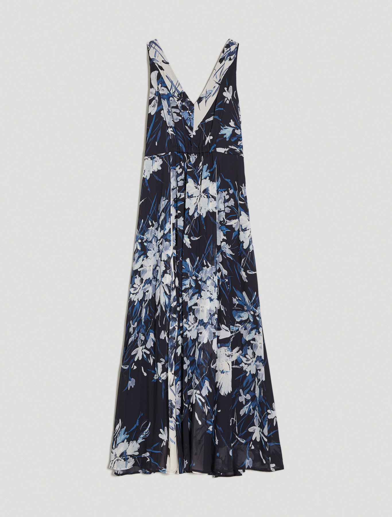 Floral patchwork maxi dress - navy blue pattern - pennyblack