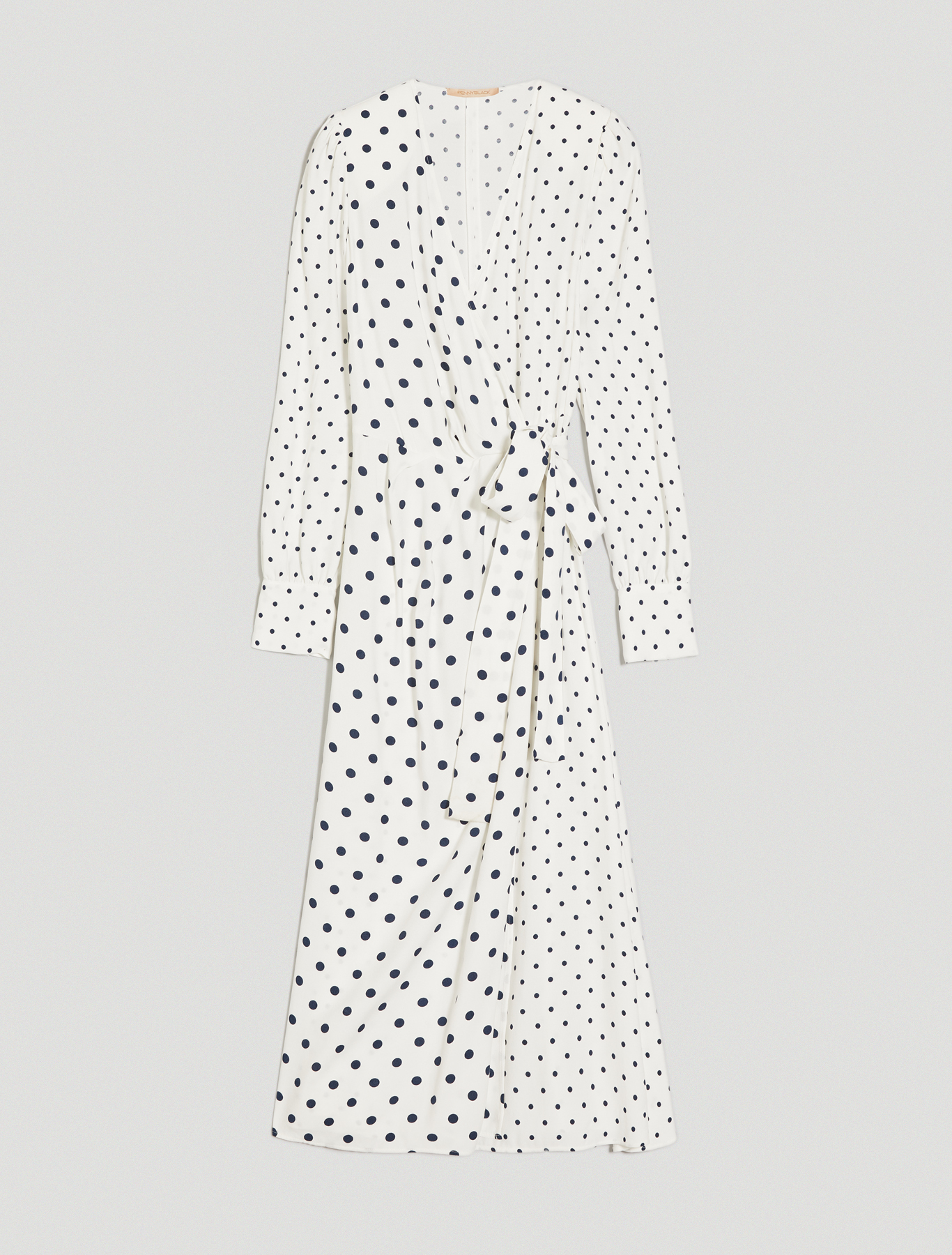 Sablé criss-cross dress - beige pattern - pennyblack
