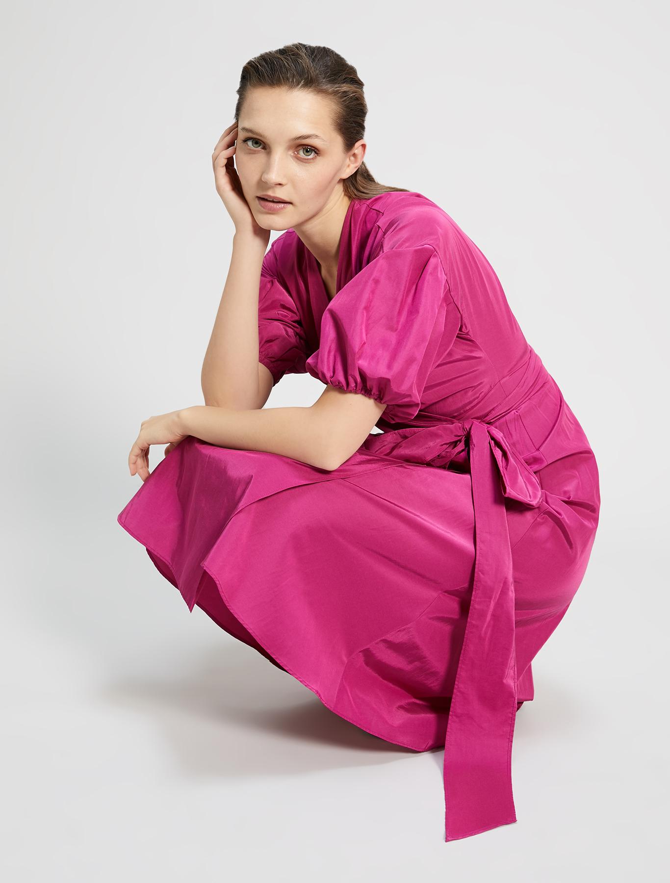 Taffeta wrap dress - fuchsia - pennyblack