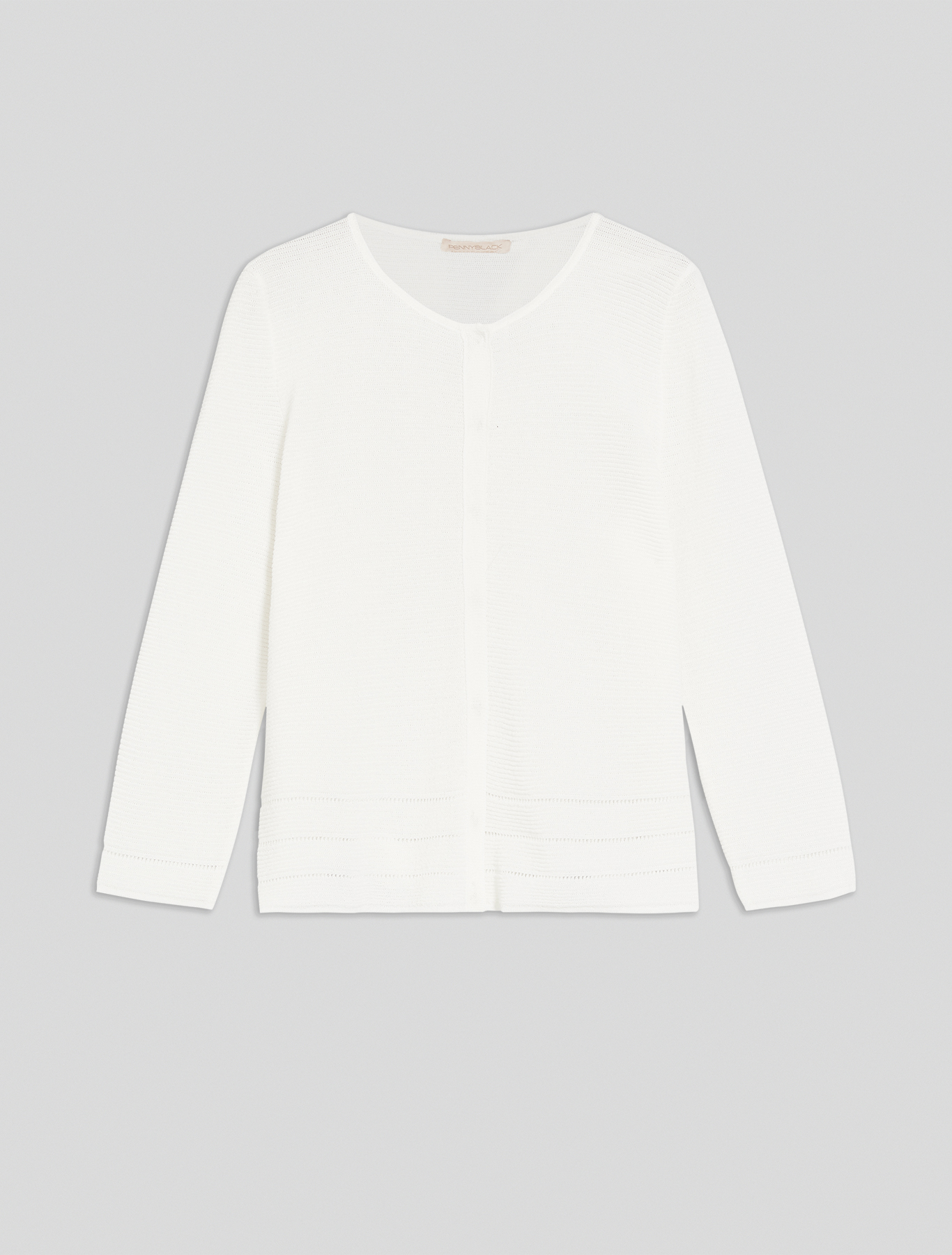 Ottoman tricot Cardigan - white - pennyblack