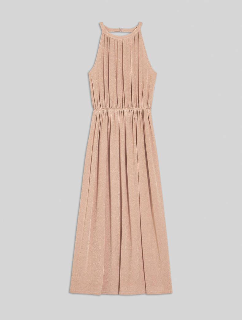Lamé jersey maxi dress - pink - pennyblack