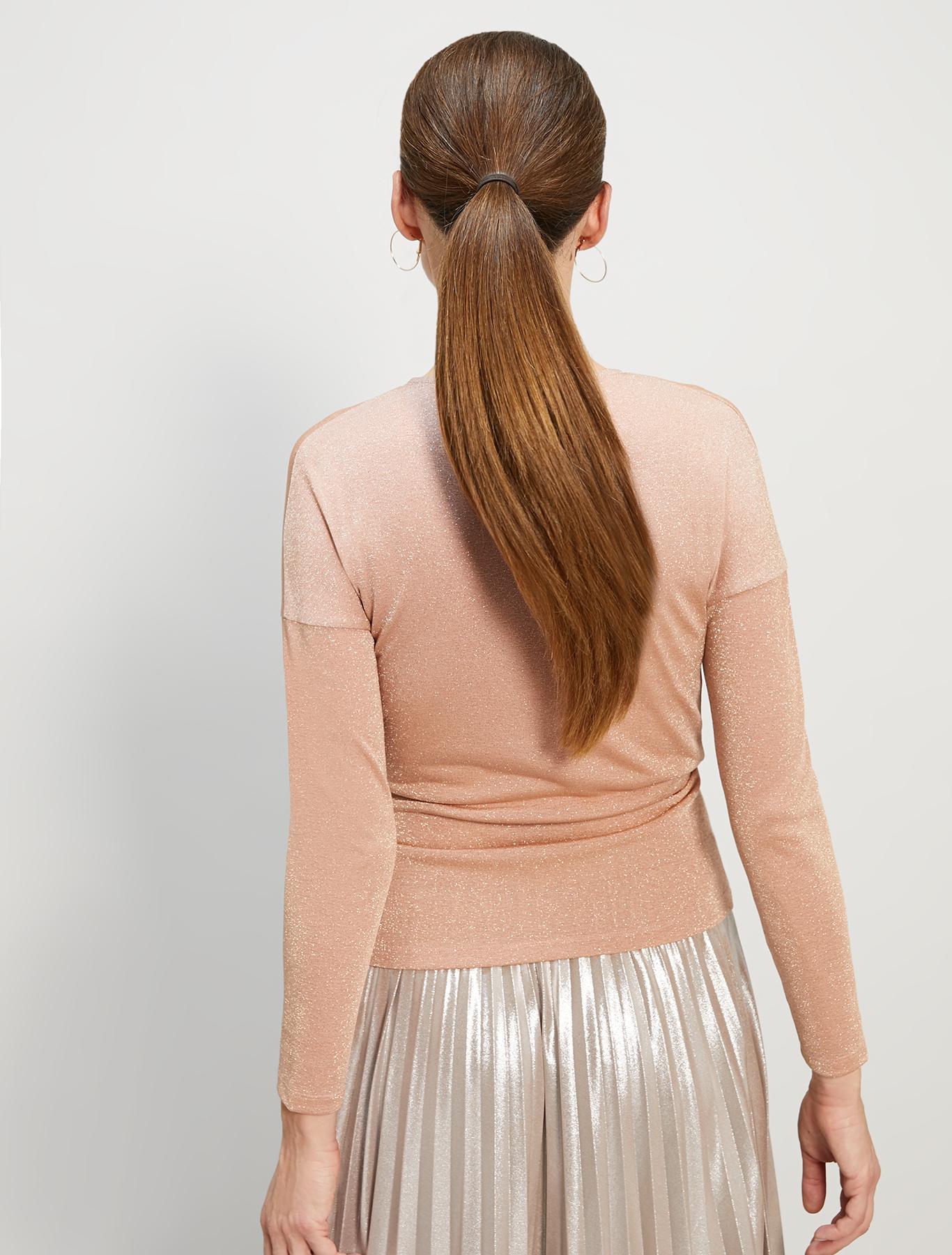 Lamé jersey T-shirt - pink - pennyblack