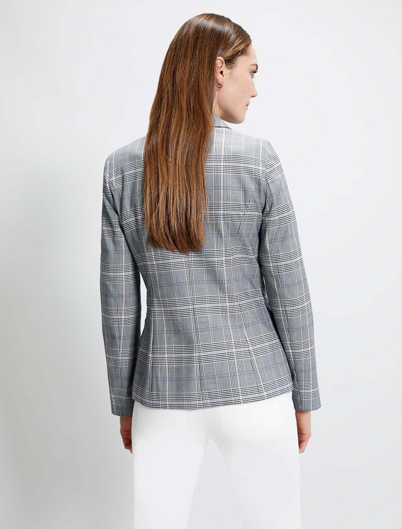 Check pattern blazer - navy blue pattern - pennyblack