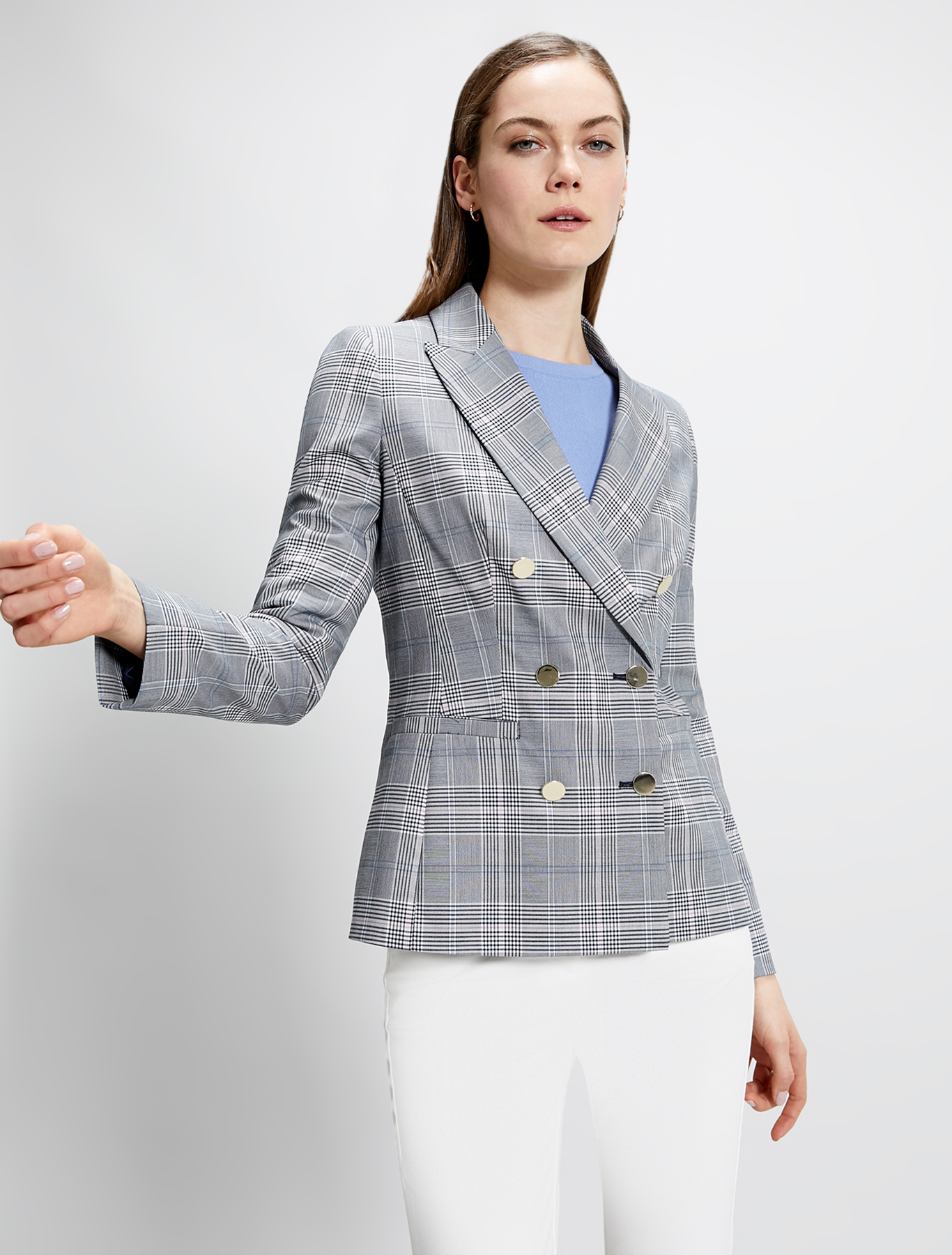Check pattern blazer - navy blue pattern - pennyblack