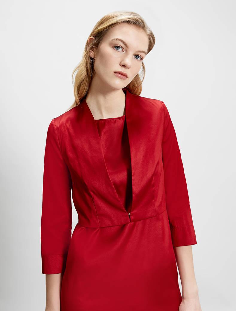 Taffeta bolero jacket - red - pennyblack