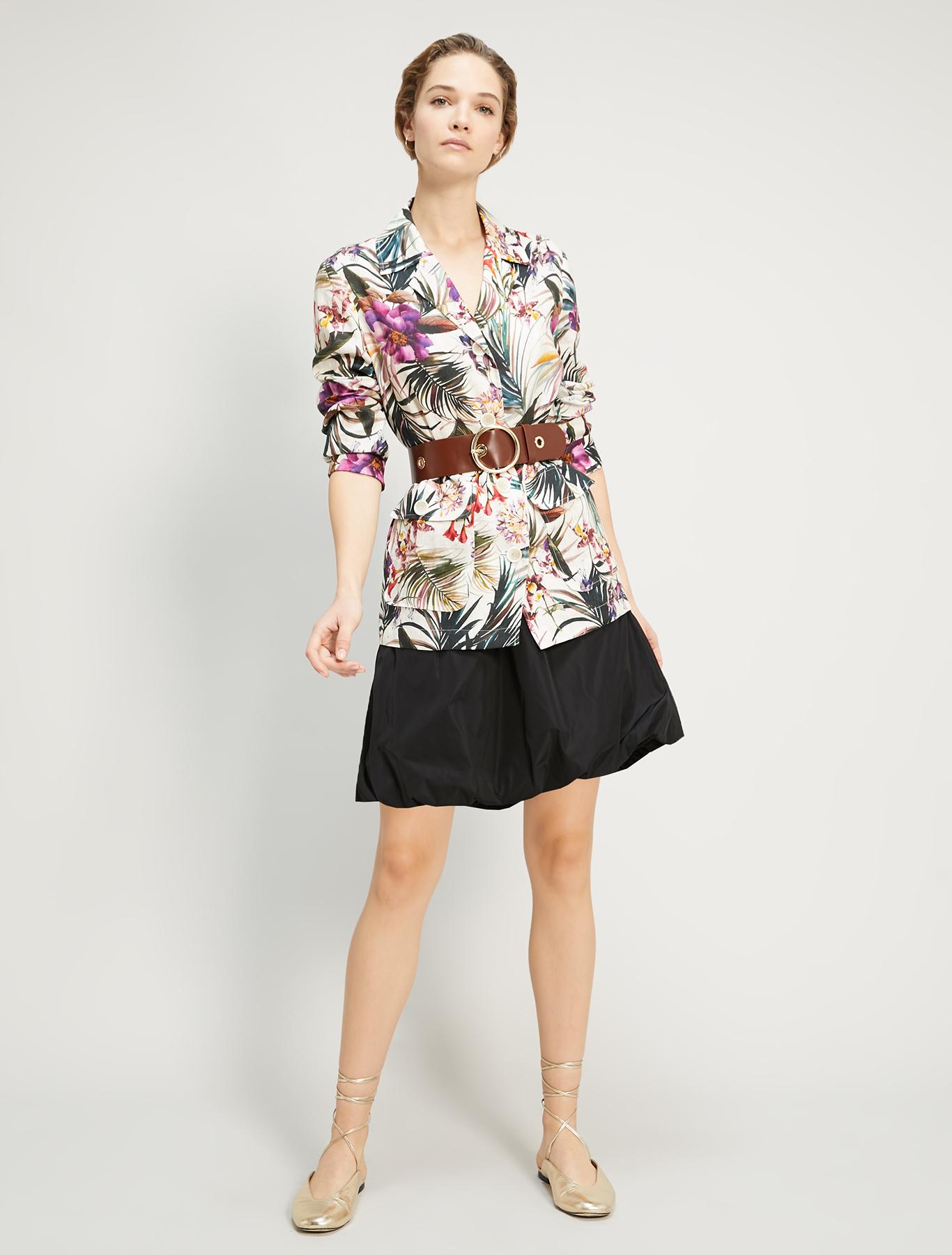 Pure linen blazer - ivory pattern - pennyblack