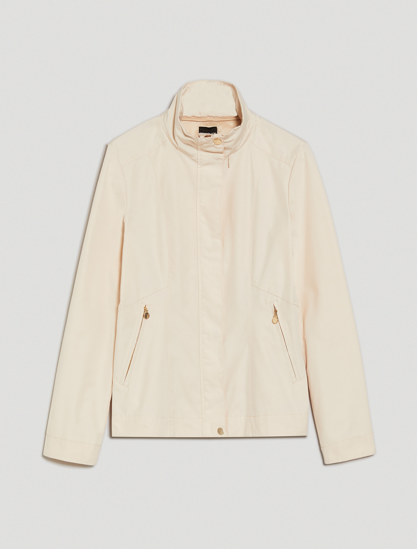 Rainproof faille jacket - ivory - pennyblack