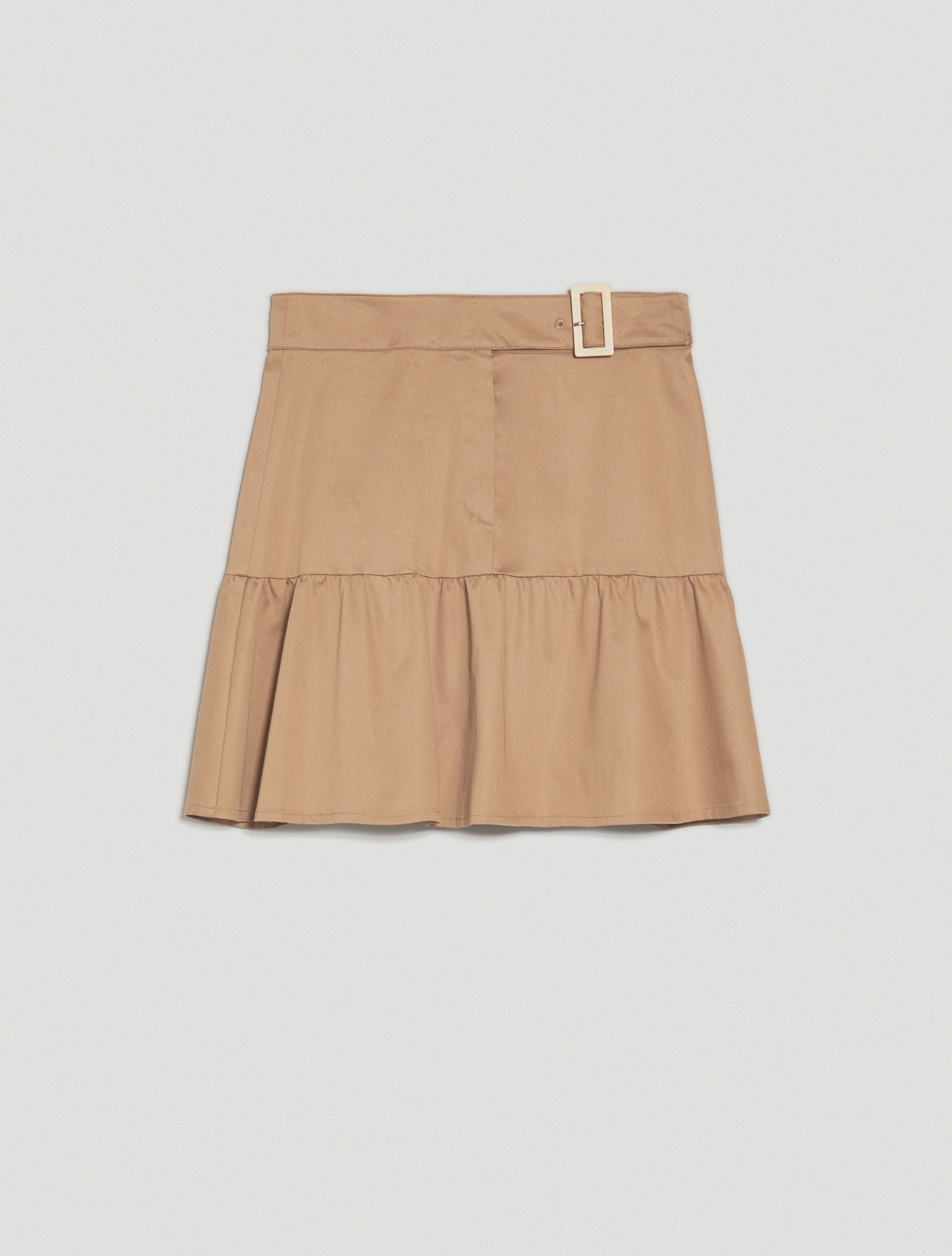 Cotton satin skirt - hazelnut - pennyblack