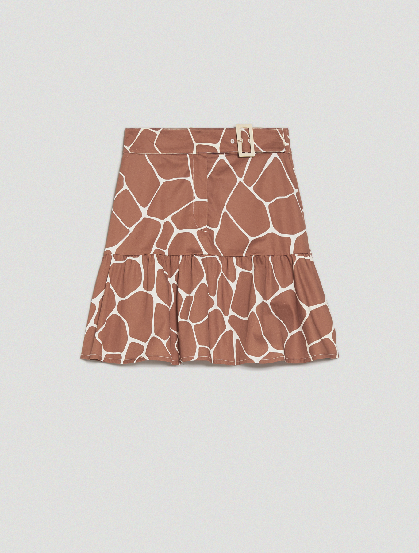 Cotton satin skirt - dark brown - pennyblack