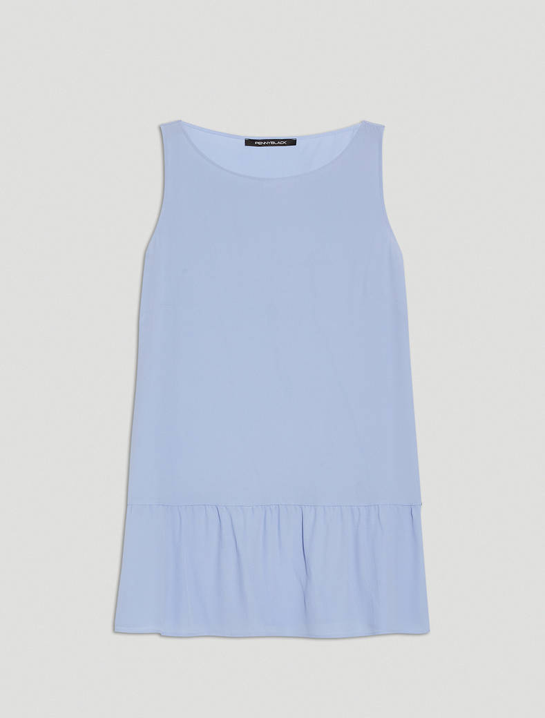 Crêpe de Chine top - light blue - pennyblack