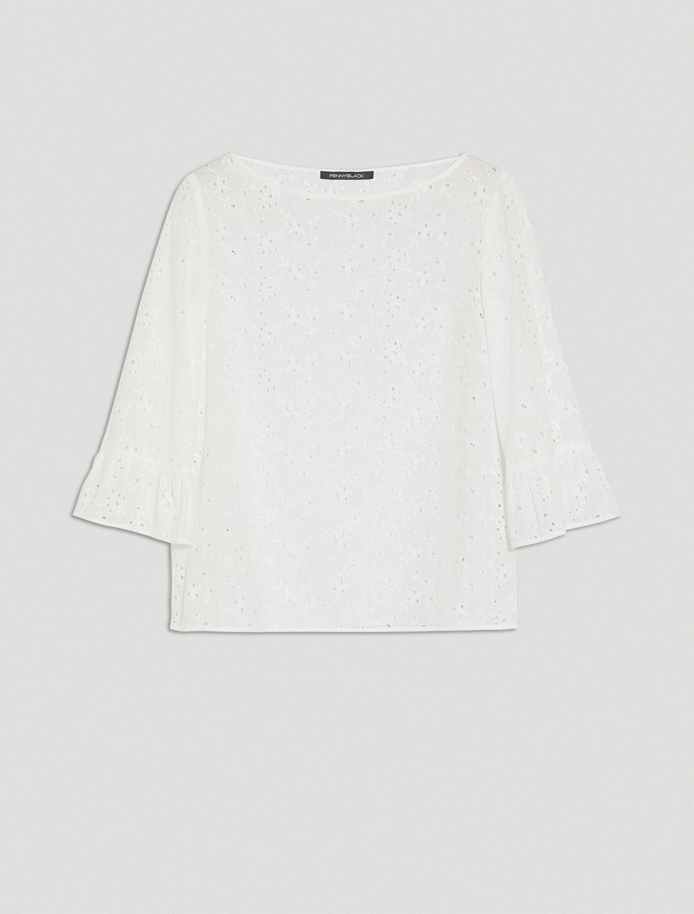 St. Gallen cotton blouse - white - pennyblack