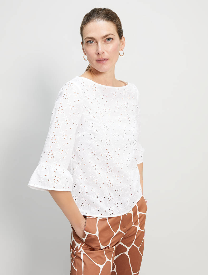 St. Gallen cotton blouse - white - pennyblack