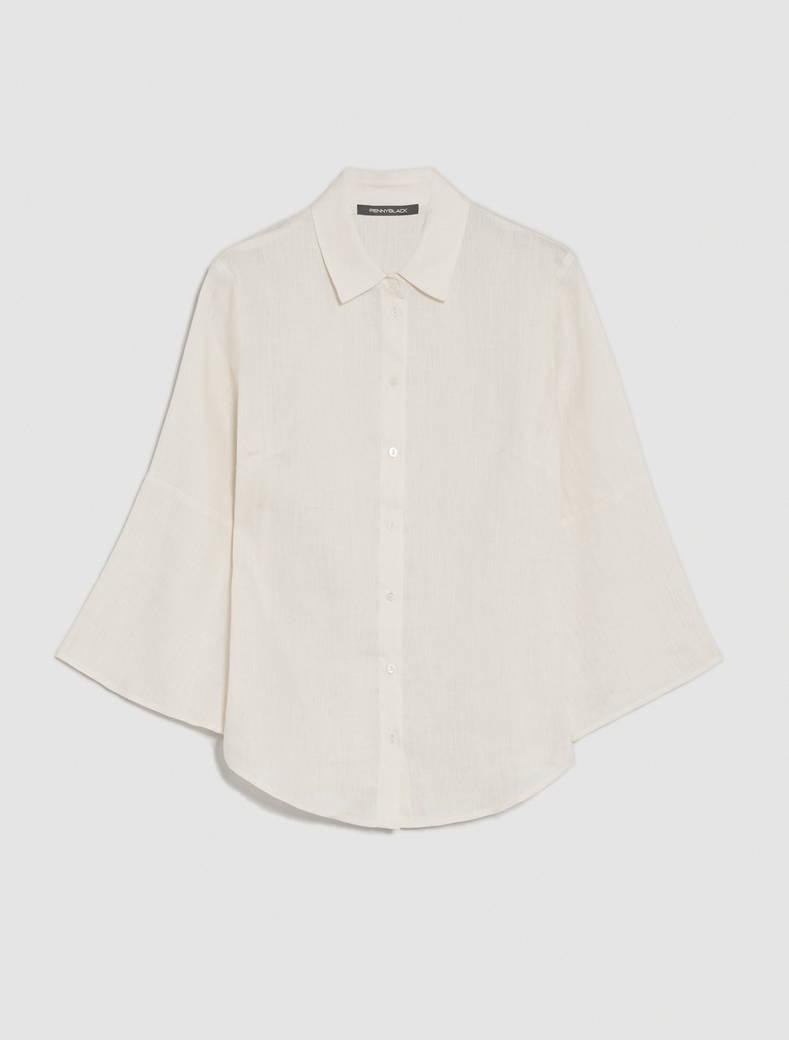 Camicia in puro lino - bianco avorio - pennyblack