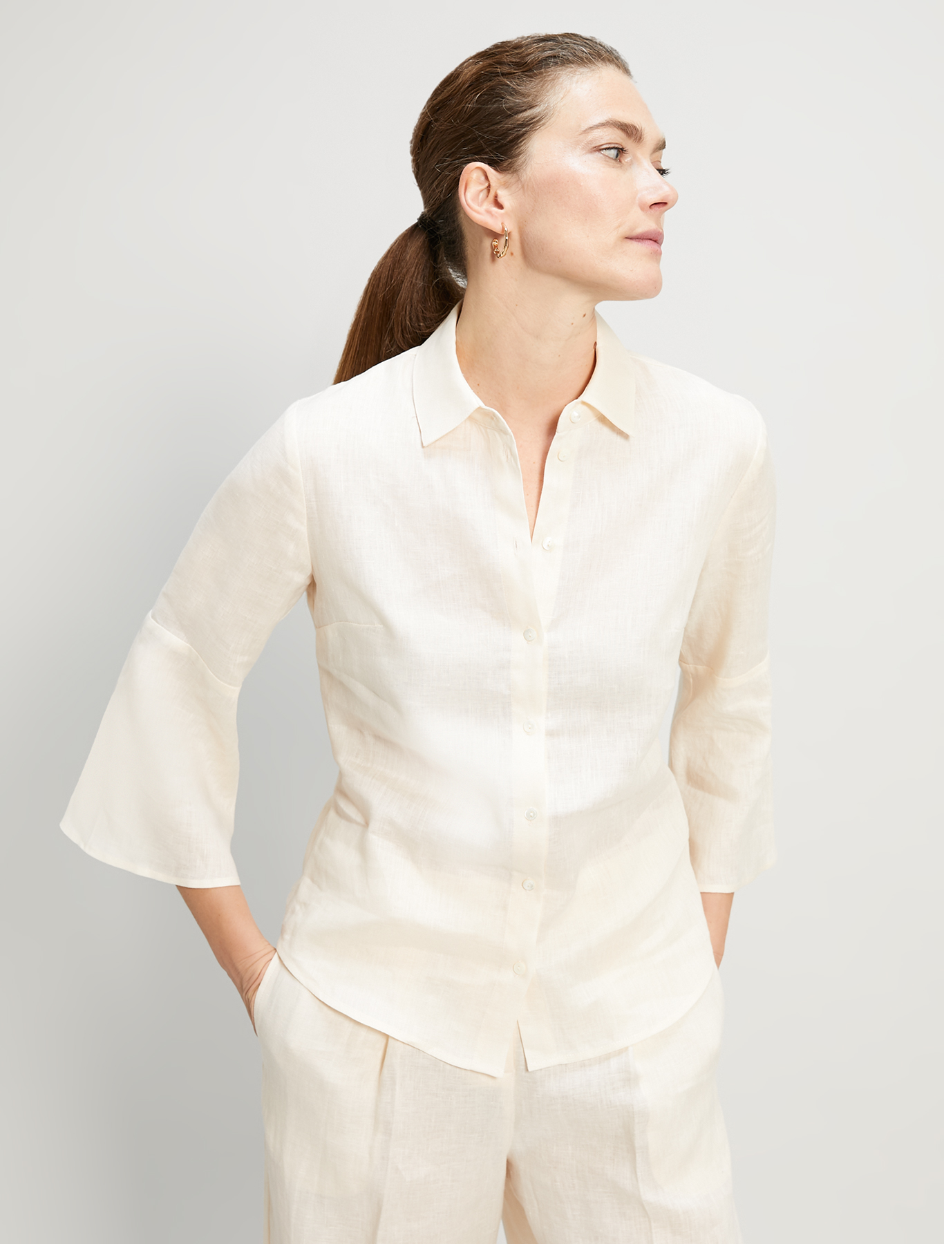 Pure linen shirt - ivory - pennyblack