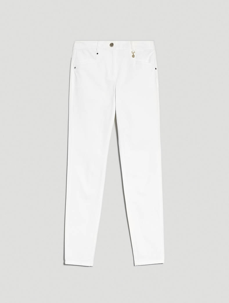 Cotton twill trousers - optic white - pennyblack
