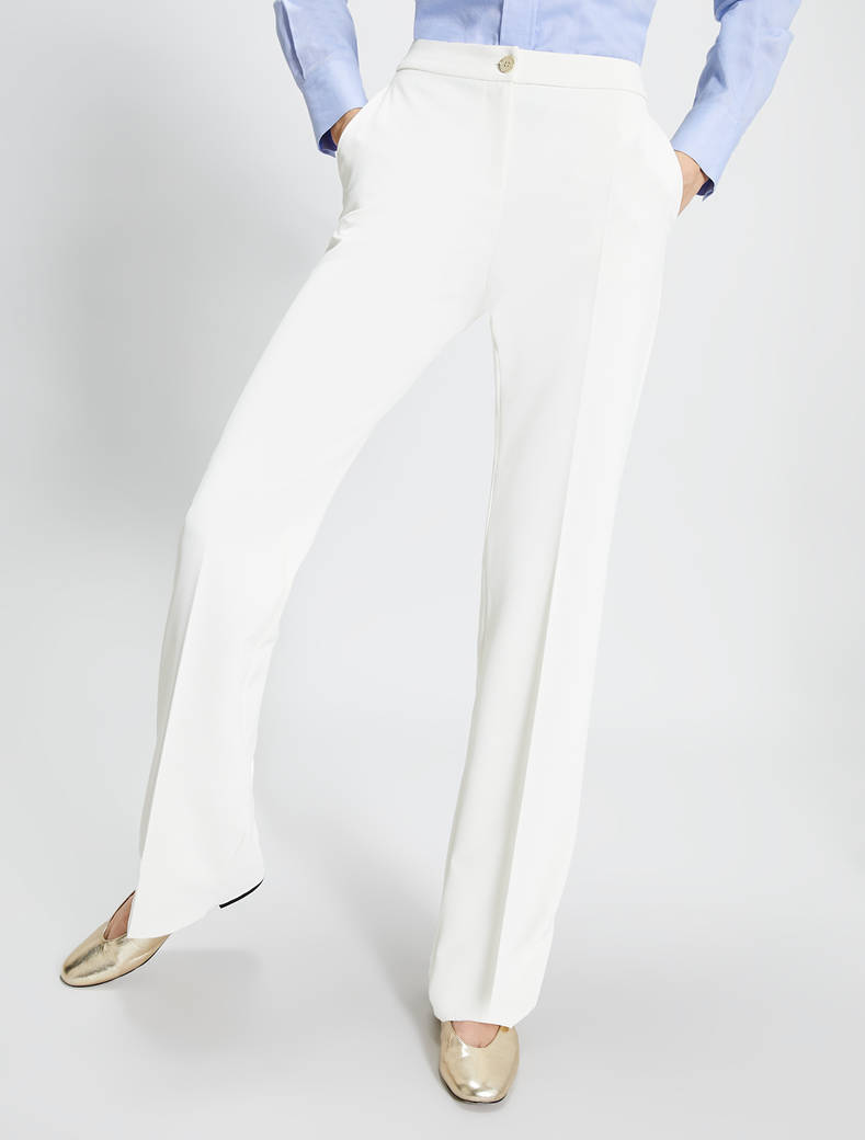 Straight-leg trousers - ivory - pennyblack