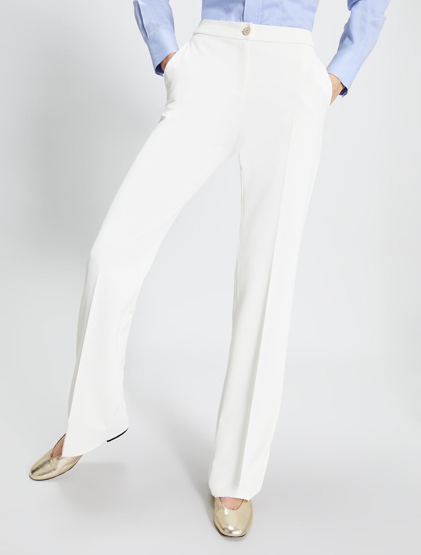 Straight-leg trousers - ivory - pennyblack