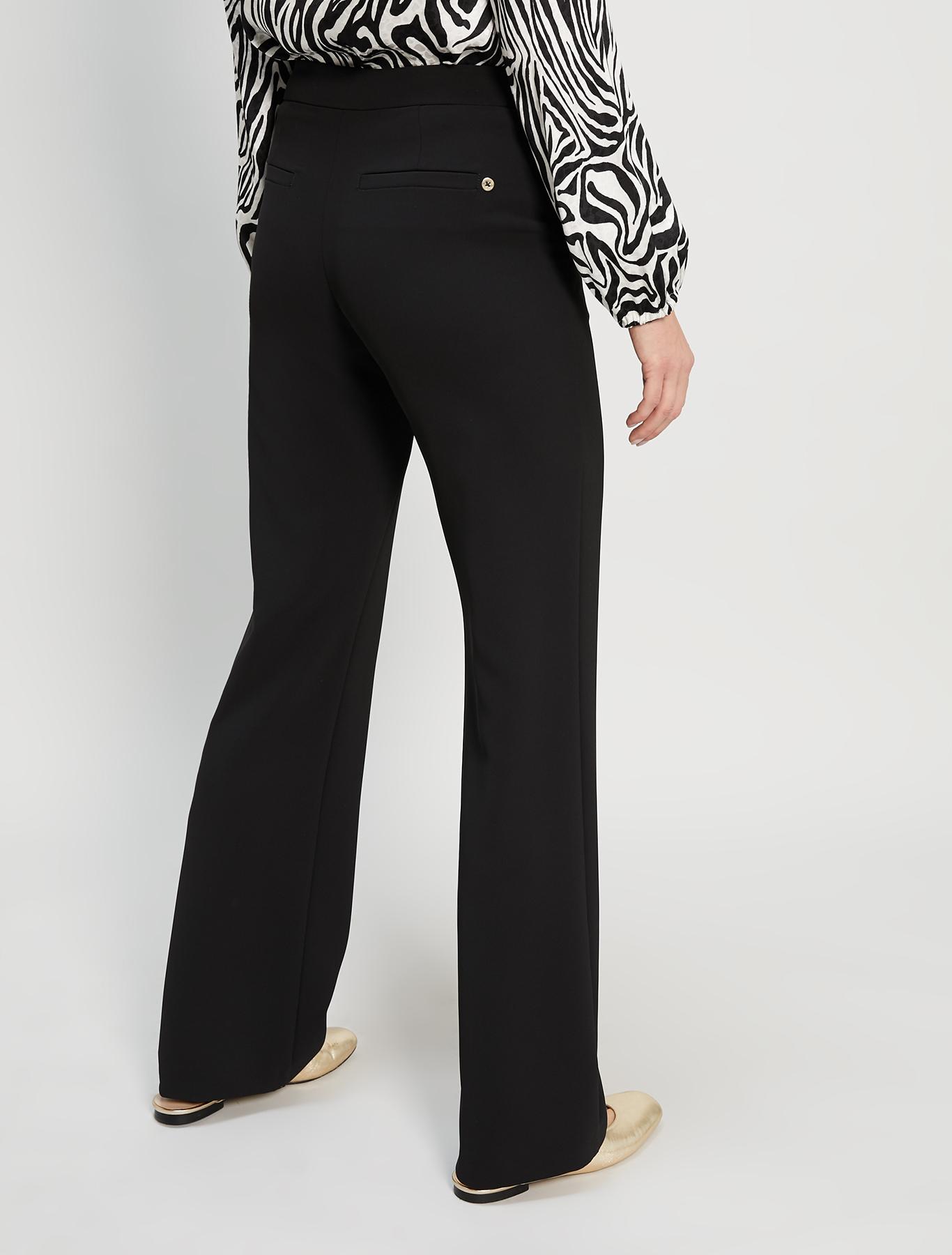 Straight-leg trousers - black - pennyblack