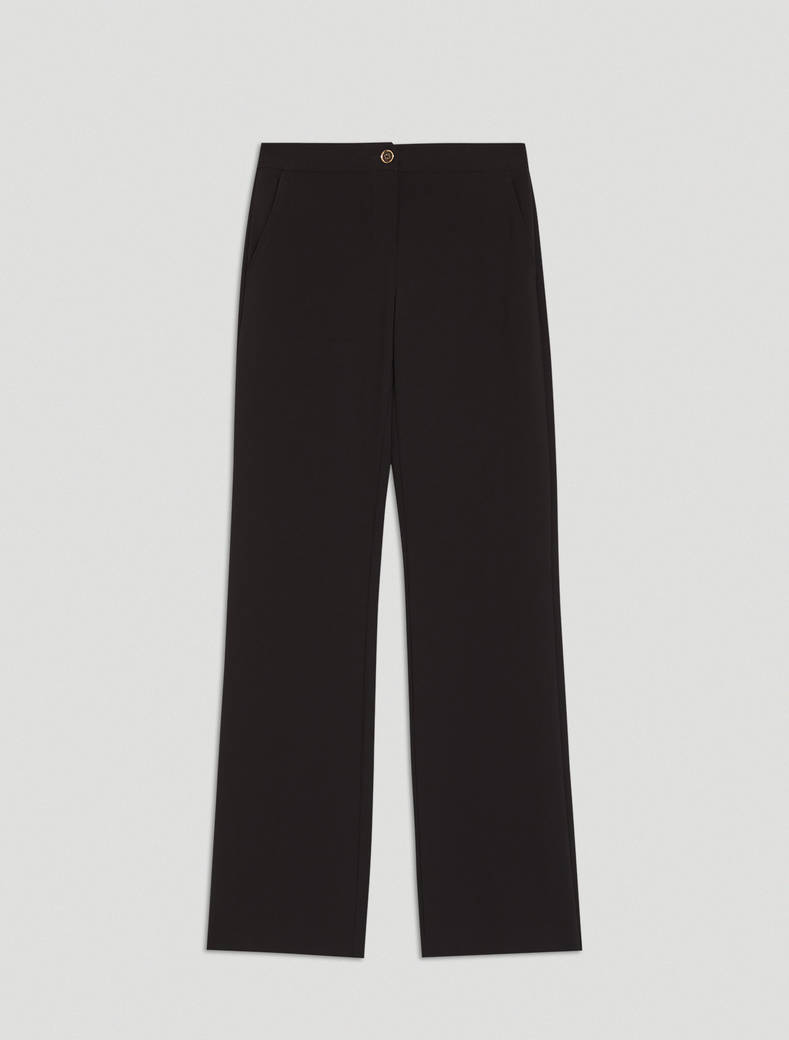 Straight-leg trousers - black - pennyblack