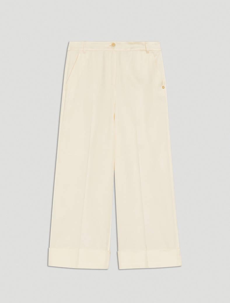 Pantaloni ampi in twill - beige - pennyblack